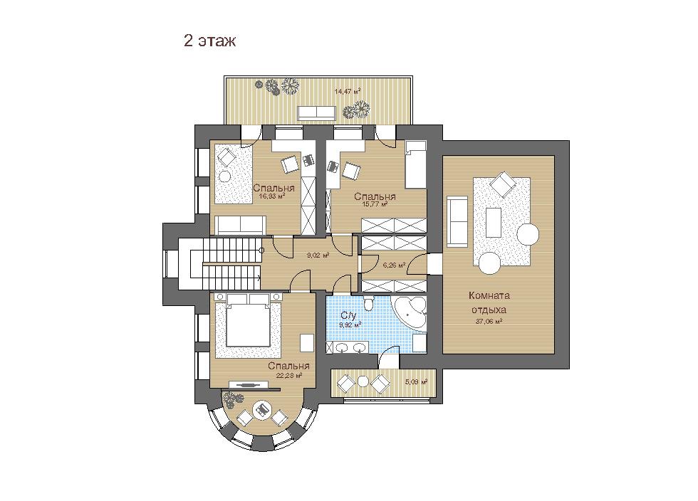 Строительство дома про проекту «Модена»