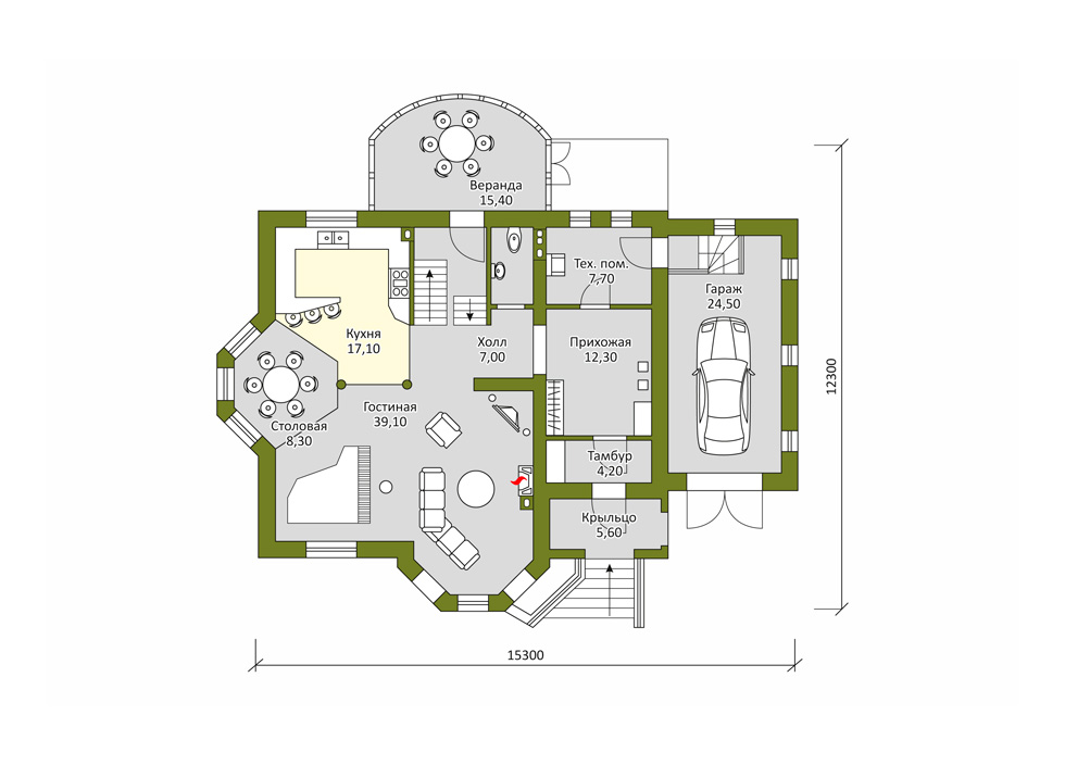 Строительство дома про проекту «Ленский»